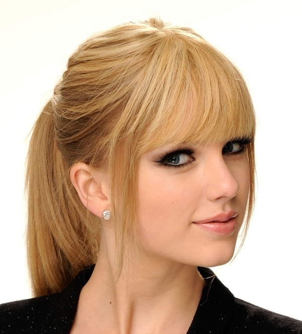 6 Great Ponytails With Bangs Inspiration Ideas Within Glamorous Pony Hairstyles With Side Bangs (View 6 of 25)