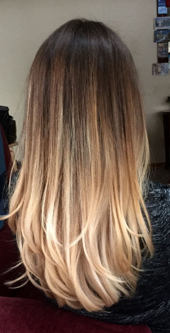 6 Tips To Ombre Your Hair And 29 Examples – Styleoholic With Brown Blonde Layers Hairstyles (View 12 of 25)