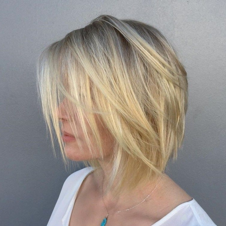 60 Beautiful And Convenient Medium Bob Hairstyles | Projects To Try Within Chamomile Blonde Lob Hairstyles (View 10 of 25)
