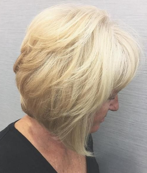 60 Best Hairstyles And Haircuts For Women Over 60 To Suit Any Taste For Chamomile Blonde Lob Hairstyles (View 8 of 25)