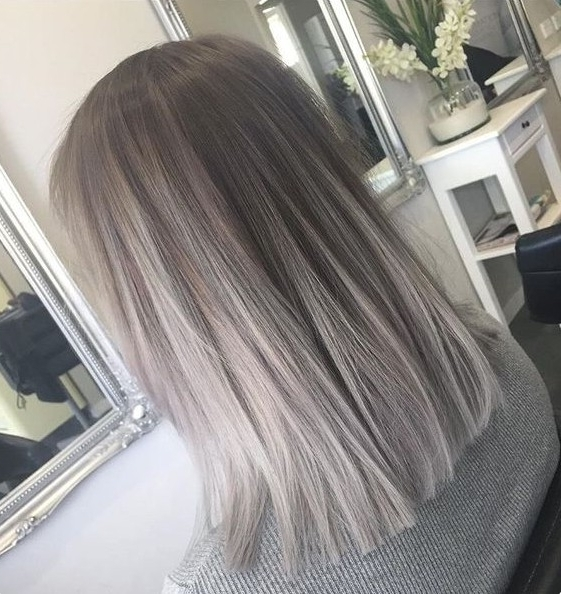 60 Best Hairstyles For 2018 – Trendy Hair Cuts For Women Throughout Silver Blonde Straight Hairstyles (View 24 of 25)