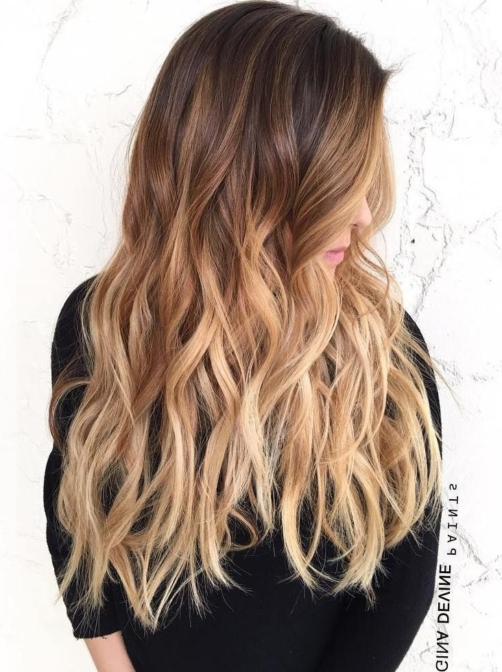 60 Best Ombre Hair Color Ideas For Blond, Brown, Red And Black Hair Pertaining To Casual Bright Waves Blonde Hairstyles With Bangs (View 19 of 25)