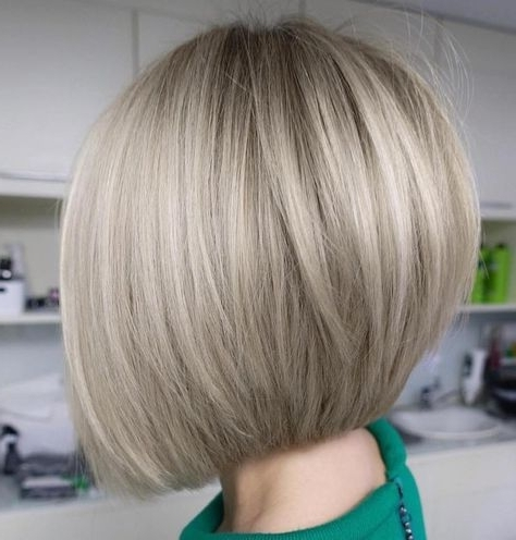 60 Best Short Bob Haircuts And Hairstyles For Women | Girliness Pertaining To Sleek Ash Blonde Hairstyles (View 13 of 25)