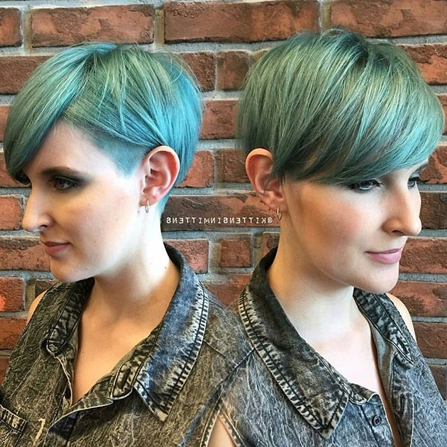 60 Cool Short Hairstyles & New Short Hair Trends! Women Haircuts 2017 For Most Recently Funky Blue Pixie Hairstyles With Layered Bangs (View 19 of 25)
