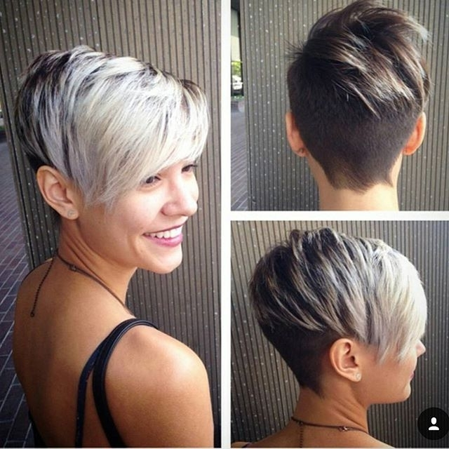 60 Cool Short Hairstyles & New Short Hair Trends! Women Haircuts Within Most Popular Two Tone Pixie Hairstyles (View 2 of 25)
