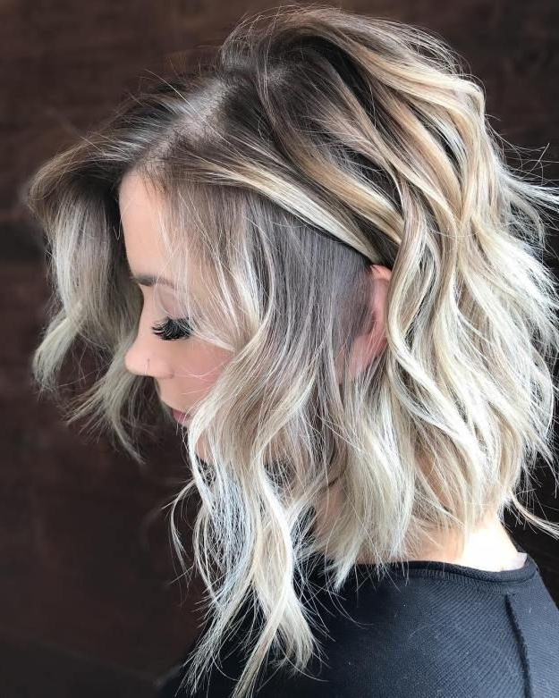60 Fun And Flattering Medium Hairstyles For Women   Blonde Lob, Lob With Regard To Messy Blonde Lob Hairstyles (View 2 of 25)
