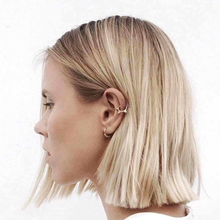 60 Gorgeous Blunt Cut Hairstyles – The Haircut That Works On With Blunt Cut White Gold Lob Blonde Hairstyles (View 11 of 25)