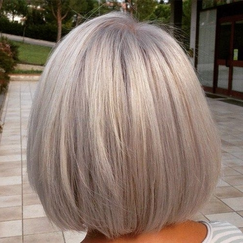 60 Gorgeous Gray Hair Styles | Hair | Pinterest | Blonde Bobs, Bobs Inside Short Silver Blonde Bob Hairstyles (View 17 of 25)