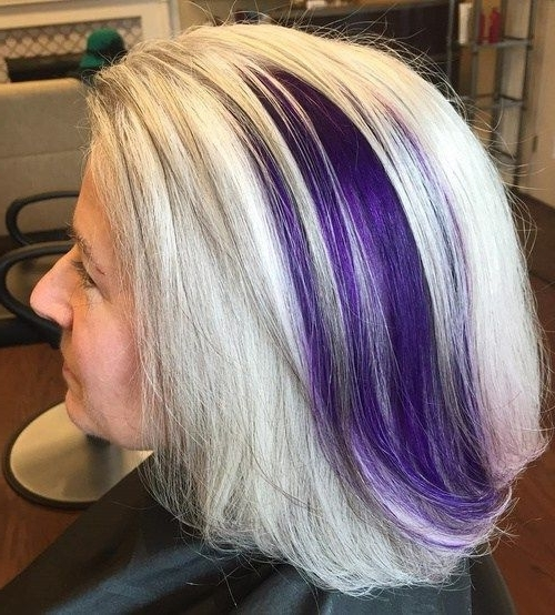 60 Gorgeous Gray Hair Styles | Hairstyles | Pinterest | Purple Regarding Voluminous Platinum And Purple Curls Blonde Hairstyles (View 13 of 25)