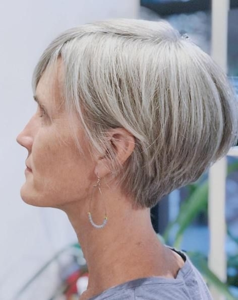 60 Gorgeous Gray Hair Styles | Short Hairstyles | Pinterest | Grey Pertaining To Most Current Gray Blonde Pixie Hairstyles (View 2 of 25)