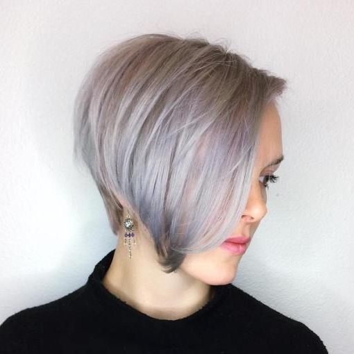 60 Gorgeous Long Pixie Hairstyles | Long Pixie Hairstyles, Pixies Throughout Most Recent Side Parted Silver Pixie Bob Hairstyles (View 2 of 25)