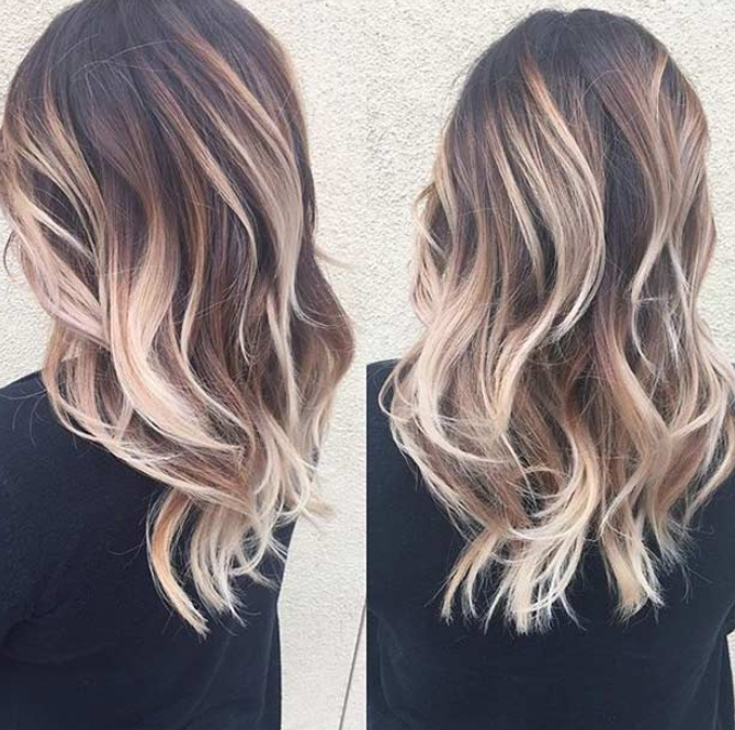 60 Great Brown Hair With Blonde Highlights Ideas For Pale Blonde Balayage Hairstyles (View 25 of 25)
