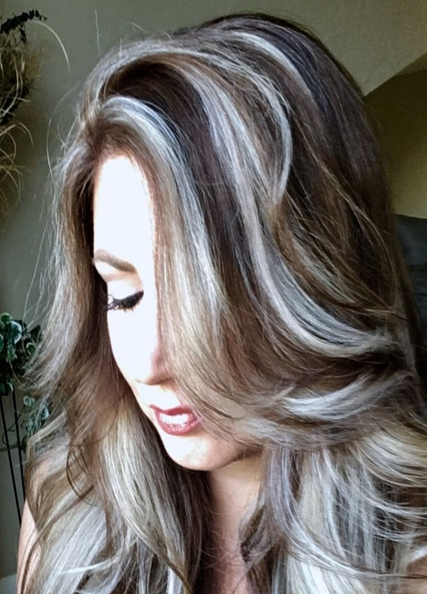 60 Great Brown Hair With Blonde Highlights Ideas Throughout Dark Blonde Hairstyles With Icy Streaks (View 13 of 25)