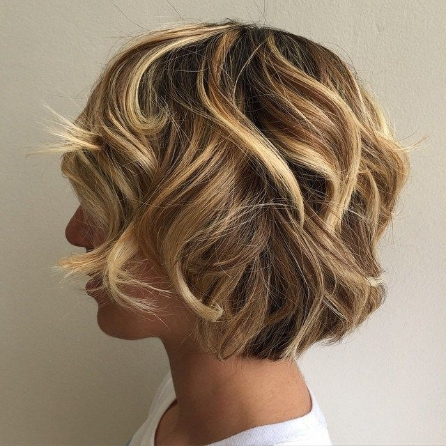 60 Layered Bob Styles: Modern Haircuts With Layers For Any Occasion Throughout Curly Highlighted Blonde Bob Hairstyles (View 20 of 25)