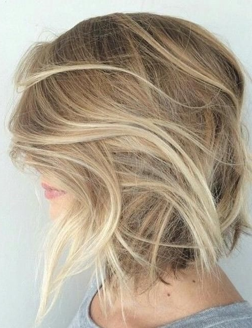 60 Messy Bob Hairstyles For Your Trendy Casual Looks | Pinterest Pertaining To Trendy Angled Blonde Haircuts (View 25 of 25)