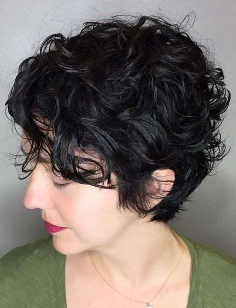 60 Most Delightful Short Wavy Hairstyles | Hair Ideas | Pinterest For Most Current Short Black Pixie Hairstyles For Curly Hair (View 17 of 25)