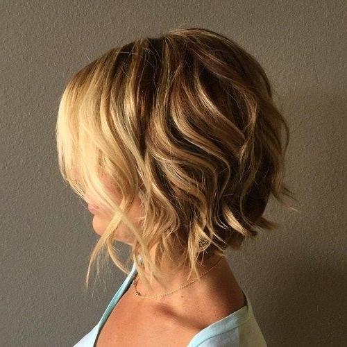 60 Most Delightful Short Wavy Hairstyles | Hair Shtuff | Pinterest Throughout Curly Highlighted Blonde Bob Hairstyles (View 19 of 25)