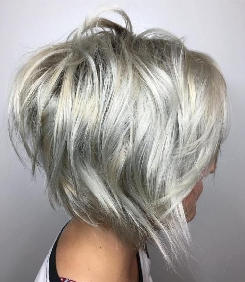 60 Overwhelming Ideas For Short Choppy Haircuts | Blonde Bobs, Bobs Within Short Silver Blonde Bob Hairstyles (View 10 of 25)