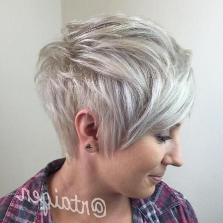 60 Overwhelming Ideas For Short Choppy Haircuts | Blonde Pixie, Ash Within Latest Gray Blonde Pixie Hairstyles (View 14 of 25)