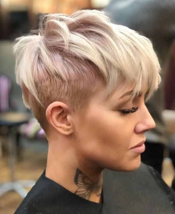 60 Overwhelming Ideas For Short Choppy Haircuts | Hair Cuts For Most Recently Uneven Undercut Pixie Hairstyles (View 3 of 25)