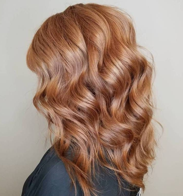 60 Stunning Shades Of Strawberry Blonde Hair Color | Strawberry Intended For Rosewood Blonde Waves Hairstyles (View 5 of 25)