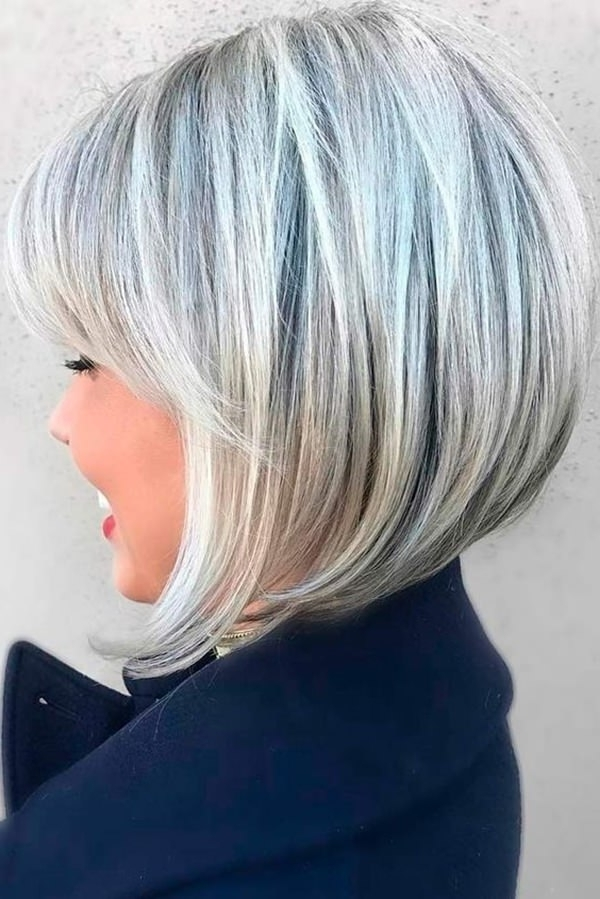 61 Charming Stacked Bob Hairstyles That Will Brighten Your Day Throughout Icy Blonde Shaggy Bob Hairstyles (View 21 of 25)