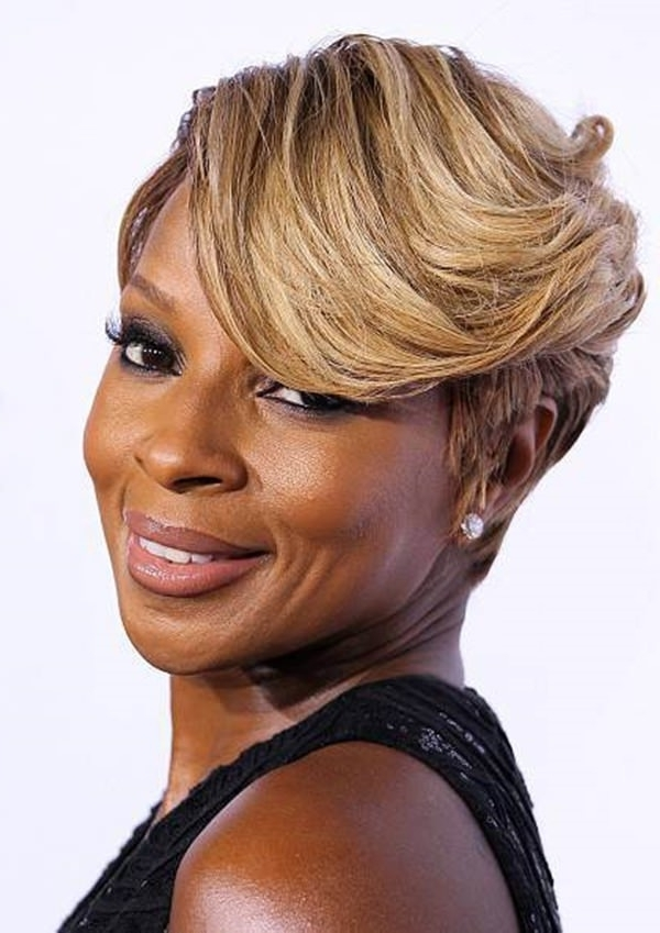 61 Short Hairstyles That Black Women Can Wear All Year Long Regarding Best And Newest Undercut Blonde Pixie Hairstyles With Dark Roots (View 25 of 25)