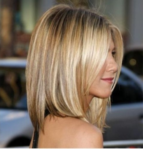 62 Pretty Bob Hair With Highlights (Short & Long Lob Haircuts) Page Intended For Asymmetry Blonde Bob Hairstyles Enhanced By Color (View 17 of 25)