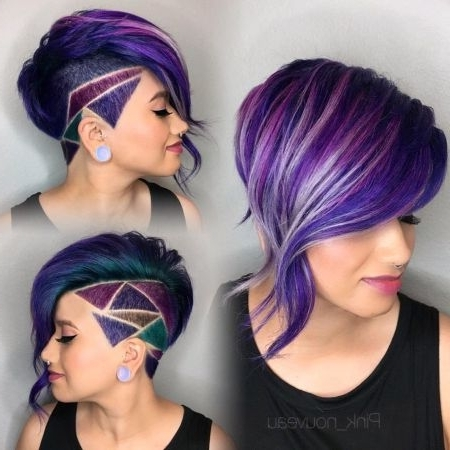 66 Shaved Hairstyles For Women That Turn Heads Everywhere Regarding Platinum And Purple Pixie Blonde Hairstyles (View 8 of 25)