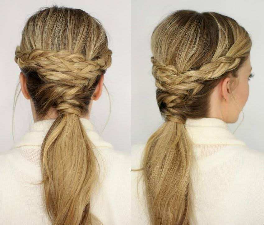 69 Charming Ponytail Hairstyles To Rev Up Your Style Game In The Criss Cross Ponytail Hairstyles (View 23 of 25)