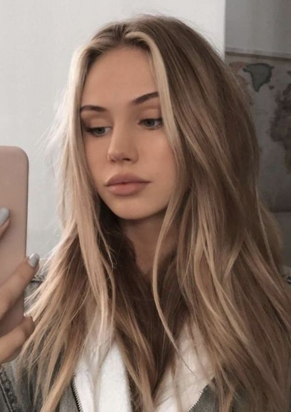 69 Of The Best Blonde Balayage Hair Ideas For You – Style Easily Inside Sleek Blonde Hairstyles With Grown Out Roots (View 11 of 25)