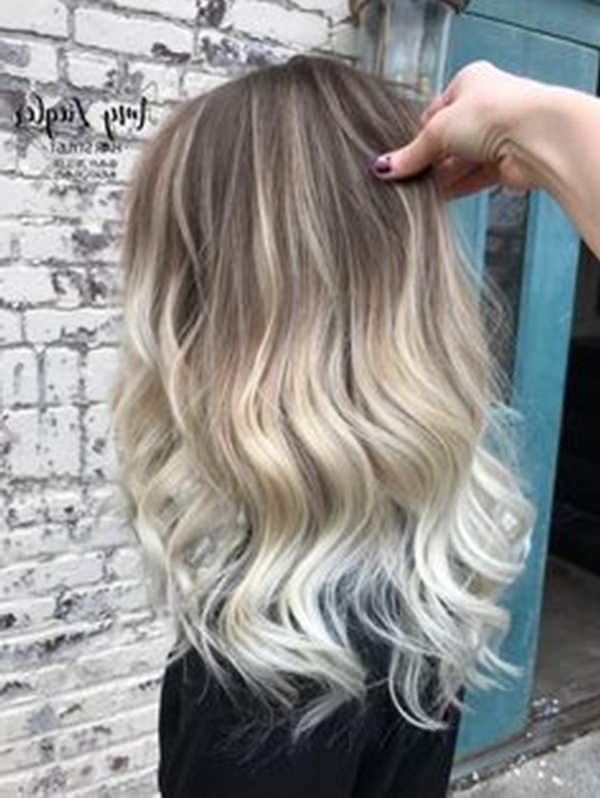 69 Of The Best Blonde Balayage Hair Ideas For You – Style Easily Throughout Dark Blonde Into White Hairstyles (View 7 of 25)