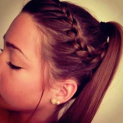 7 Cute Braid Styles Moms Can Steal From Their Daughters (Photos Within French Braid Ponytail Hairstyles (View 15 of 25)