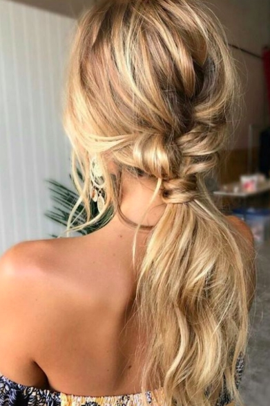 7 Different Ways To Wear A Ponytail In 2018 | Hair Inspiration Intended For Perfectly Undone Half Braid Ponytail (View 4 of 25)