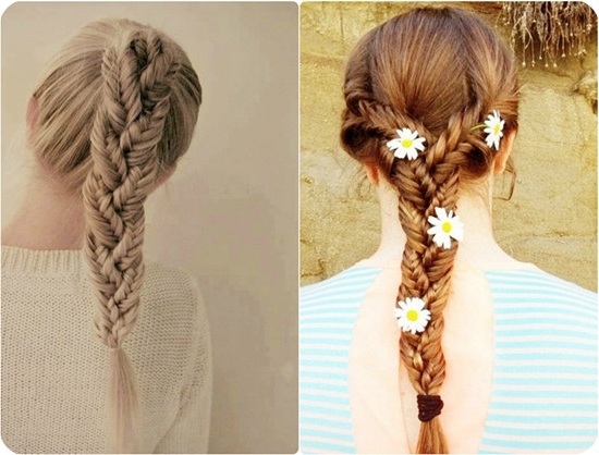 7 Easy And Chic Ponytail Hairstyle For Girls Back To School – Vpfashion In Three Braids To One Ponytail Hairstyles (Gallery 15 of 25)