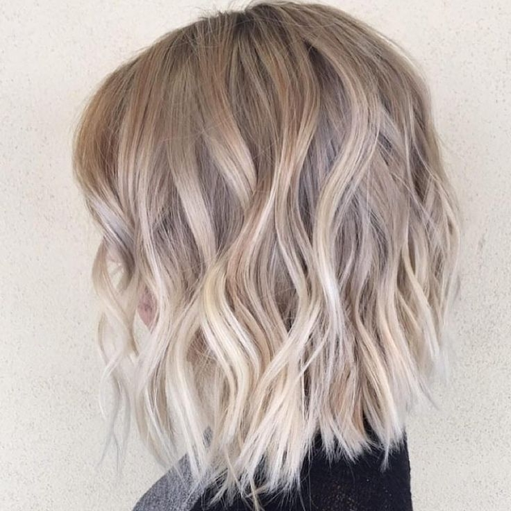 7 Lovely Ash Blonde Ombre Bob | Wpjunki Within Ash Blonde Lob With Subtle Waves (View 5 of 25)