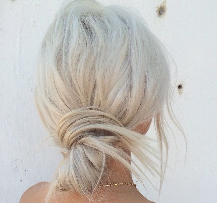 7 Stylishly Modern Mini Bouffant Hairstyle Ideas That You'll Want To Regarding Half Updo Blonde Hairstyles With Bouffant For Thick Hair (Gallery 23 of 25)