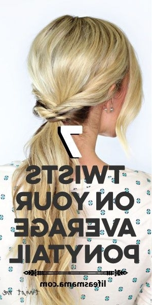 7 Twists On Your Average Ponytail | Ponytail, Hair Style And Hair Makeup Inside Stylish Supersized Ponytail Hairstyles (View 22 of 25)
