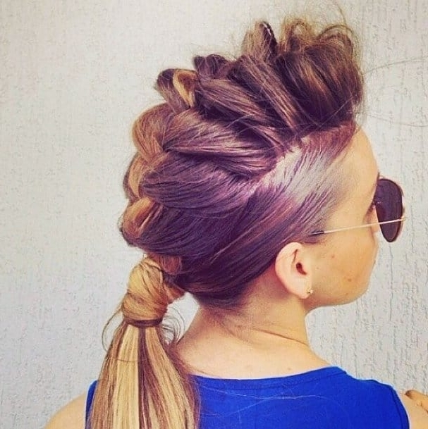 7 Unbelievably Edgy Ponytails With A Mohawk Intended For Mohawk Braid And Ponytail Hairstyles (View 12 of 25)