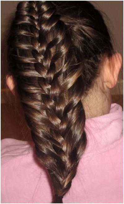 7 Unique Braided Hairstyles For Girls | Pinterest | Braided Ponytail Within Bow Braid Ponytail Hairstyles (View 4 of 25)
