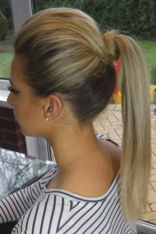7 Unique Ways To Put Your Hair In A Ponytail | Get Yo' Hair Did For Long Blond Ponytail Hairstyles With Bump And Sparkling Clip (Gallery 2 of 25)