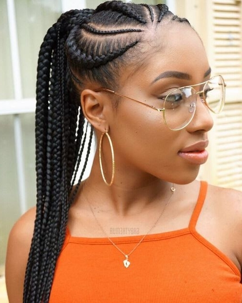 70 Best Black Braided Hairstyles That Turn Heads | Hair & Makeup Pertaining To Ponytail Hairstyles With A Braided Element (View 15 of 25)