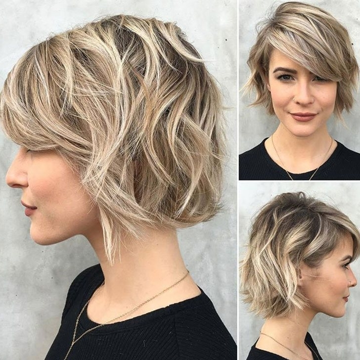 70 Best Bob Haircuts And Hairstyles For 2018 Inside Multi Tonal Golden Bob Blonde Hairstyles (Gallery 18 of 25)