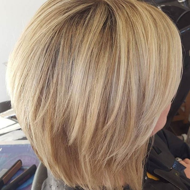 70 Best Bob Haircuts And Hairstyles For 2018 Pertaining To Multi Tonal Golden Bob Blonde Hairstyles (View 10 of 25)