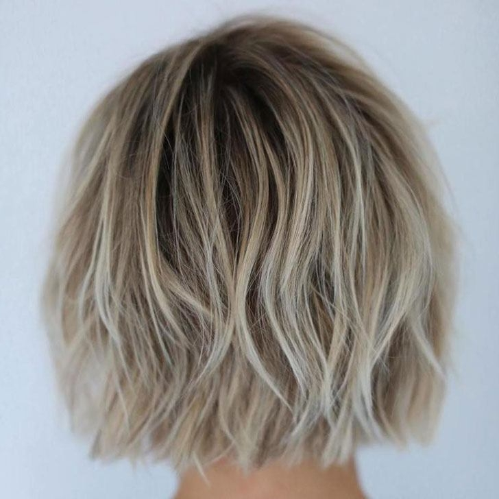 70 Best Bob Haircuts And Hairstyles For 2018 Throughout Shaggy Highlighted Blonde Bob Hairstyles (View 13 of 25)