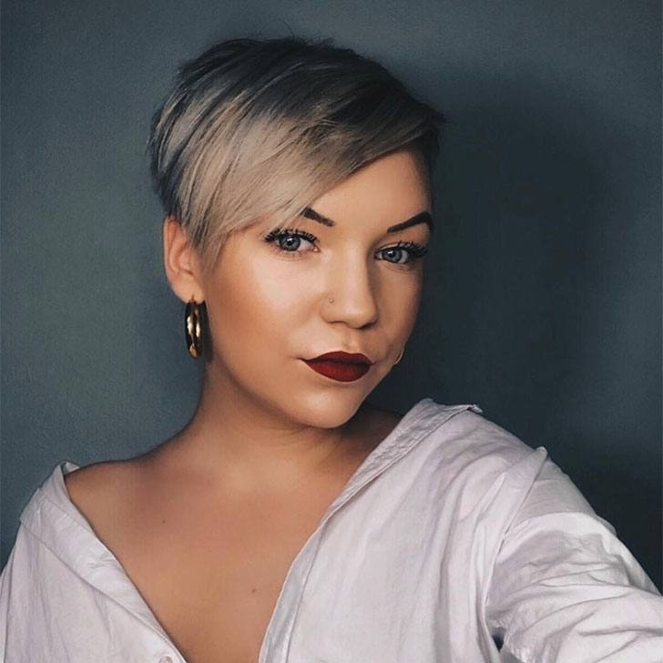 70 Best Pixie Cuts For 2018 In Trend Now Regarding Current Short Choppy Side Parted Pixie Hairstyles (View 13 of 25)