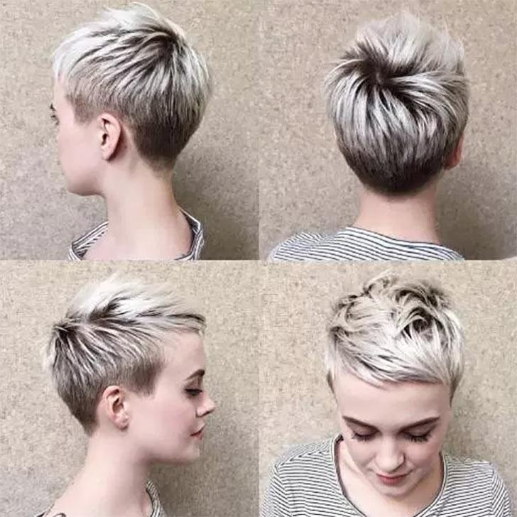 70 Best Pixie Cuts For 2018 In Trend Now With Regard To Most Popular Disconnected Blonde Balayage Pixie Hairstyles (View 15 of 25)