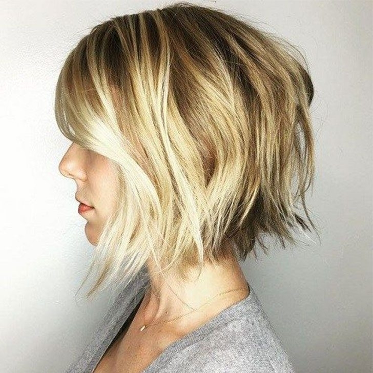 70 Best Short Hairstyles And Short Haircuts Ideas For 2018 Intended For Choppy Cut Blonde Hairstyles With Bright Frame (View 18 of 25)