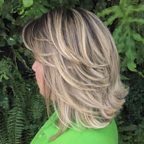 70 Brightest Medium Layered Haircuts To Light You Up | Hair Regarding Feathered Ash Blonde Hairstyles (View 12 of 25)
