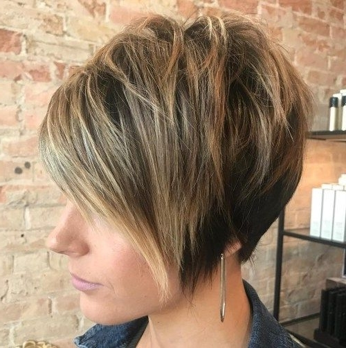 70 Cute And Easy To Style Short Layered Hairstyles | Haircuts Throughout 2018 Messy Tapered Pixie Hairstyles (Gallery 4 of 25)